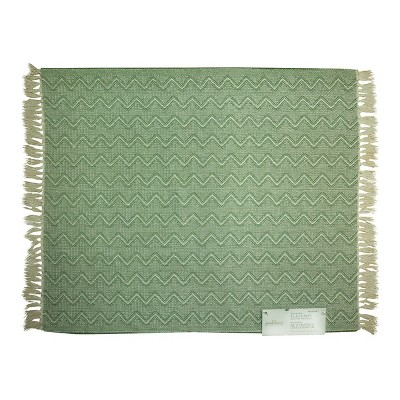 Placemat Woven Chevron Green - Threshold™