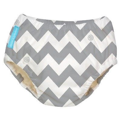 Charlie Banana Training Pant - Size X-Large, Grey Chevron