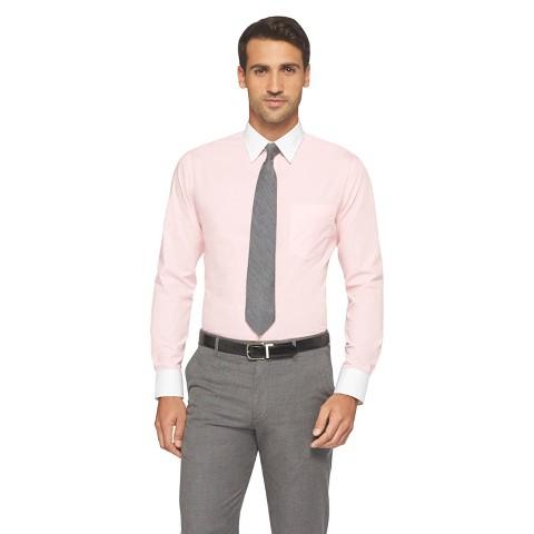 Merona men 39 s tailored fit dress shirt target for Tailoring a dress shirt