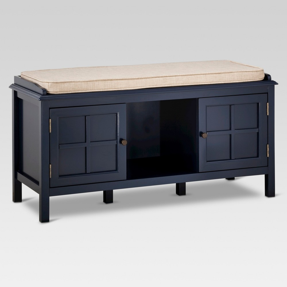 Windham Entryway Bench - Navy - Threshold