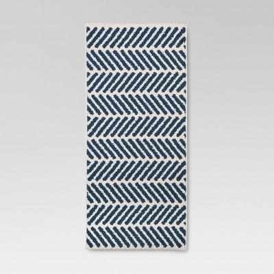 "Threshold™ Chevron Accent Rug - Blue (1'8""x4'2"")"