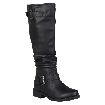 Women's Journee Collection Buckle Detail Slouch Boots