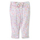 Toddler Girls Soft Floral Pant - White