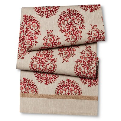 Threshold™ Paisley Jute Trim Runner - Red