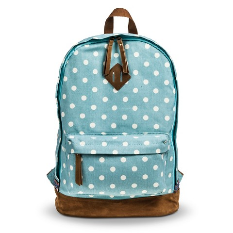 Women's Polka Dot Canvas Backpack - Blue - Mossi... : Target Denim Jansport Backpack