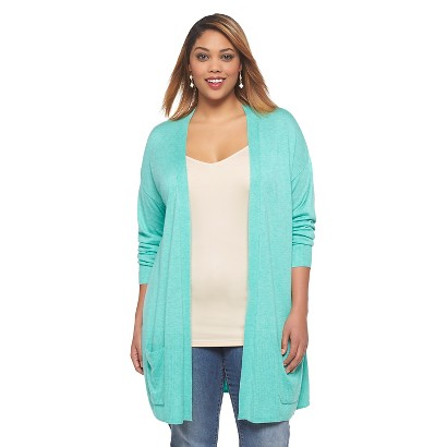 Women's Plus Size Long Sleeve Cardigan Sweater Jade 3X-Ava & Viv