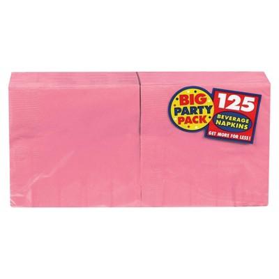 Pink Cocktail Beverage Napkin - 125 count