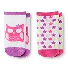 Infant Toddler Girls' 2-Pack Owl Low-cut Socks - Circo™