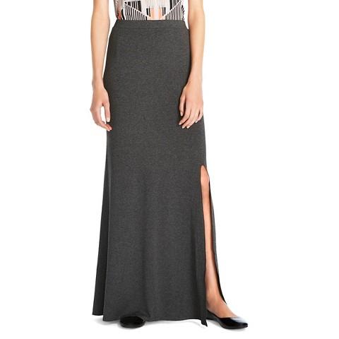 maxi skirt gray mossimo
