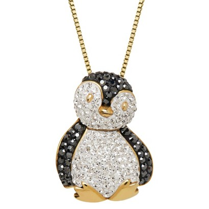 89 ct t w penguin necklace in gold pl target