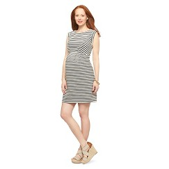 Maternity Sleeveless A-Line Dress Black/White XL-Liz Lange® for Target®