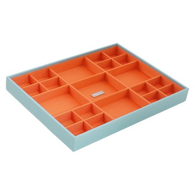 Wolf Large Multi-Compartment Jewelry Tray - Aqua