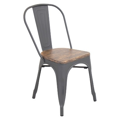 Lumisource Oregon Dining Chair Gray Tar