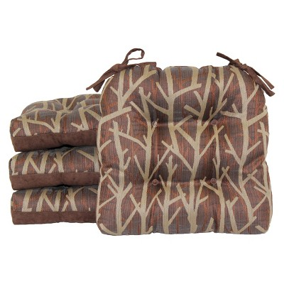 "4 Pack Wilkes Branch Chairpad - Brown (15.5""X15"")"
