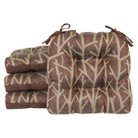 """4 Pack Wilkes Branch Chairpad - Brown (15.5""""X15"""")"""