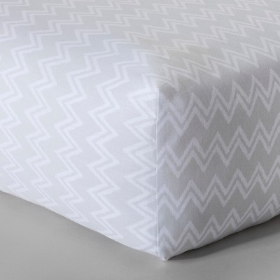 Circo™ Woven Fitted Crib Sheet - Chevron Delight
