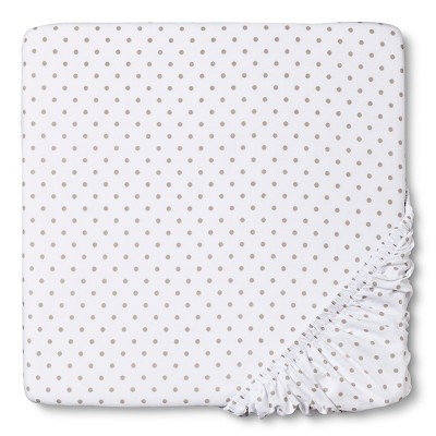 Circo™ Woven Fitted Crib Sheet - Sheep & Co. Dot