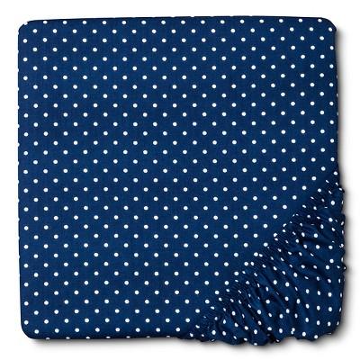 Circo™ Woven Fitted Crib Sheet - Navy Dot