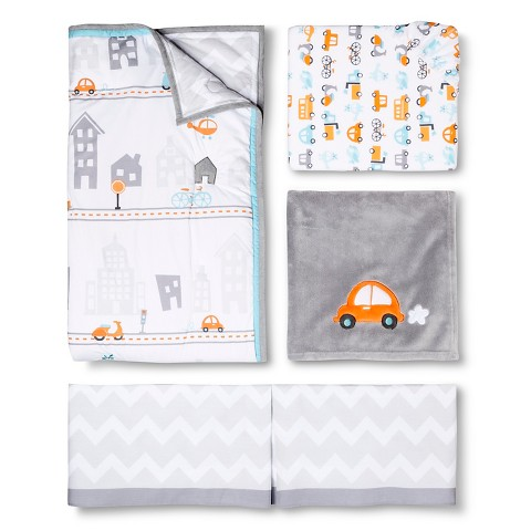 Circo City on the Go car Crib Bedding Set