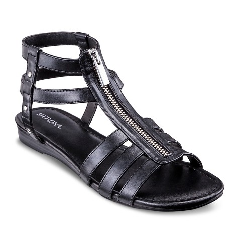 Awesome New Womens TPe5 Black Butterfly Cutout Thong Gladiator Flat Sandals Sz