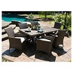 Lonsdale 7-Piece Faux Wood & Wicker Patio Dining Set