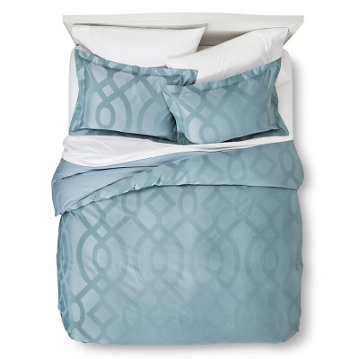 Modern Geo Duvet Cover Set Full/Queen Blue - Fieldcrest™