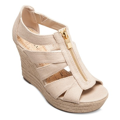 women s meredith zipper wedge sandals target