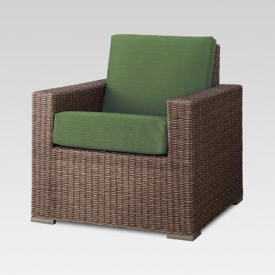 Heatherstone Wicker Patio Club Chair Green - Threshold™