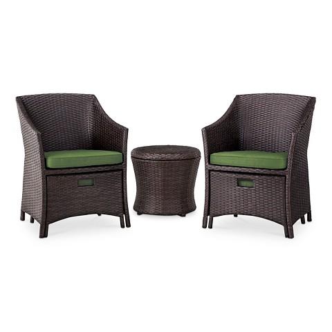 Loft 5 Piece Wicker Patio Conversation Furniture Tar