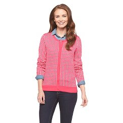Women's Polka Dot Crewneck Favorite Cardigan Merona®