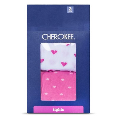Baby Girls' 2-Pack Polka Dot Tights Pink/White 0-6 M - Cherokee®
