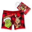 Men's Grinch Naughty or Nice Boxer Brief with Gift Bag