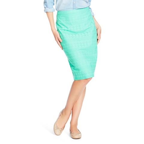 Women's Eyelet Pencil Skirt Merona® Mint Everest