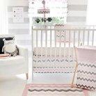 Chevron in Pink/Gray 3pc Crib Bedding Set