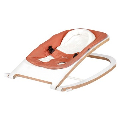 Babyhome Wave Wooden Rocker - White/Clay