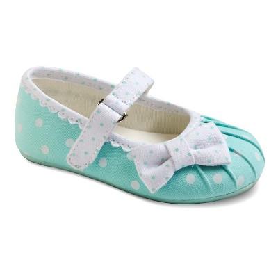 Infant Girl's Genuine Kids from OshKosh™ Amanda Polka Dot Ballet Flats - Mint 2