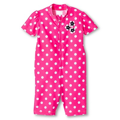Toddler Girls Body Polka Dot Rash Guard