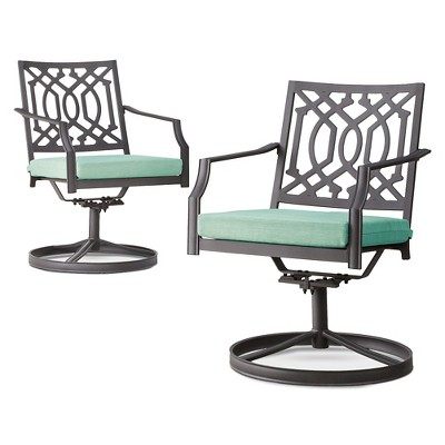 Harper 2-Piece Metal Patio Motion Club Chair Set - Seafoam - Threshold™