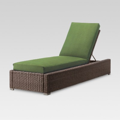 Heatherstone Wicker Patio Chaise Lounge Green - Threshold™