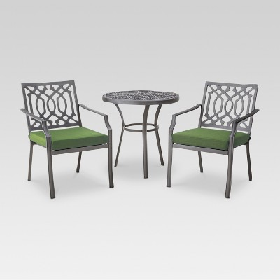 Harper 3-Piece Metal Patio Bistro Set - Green - Threshold™