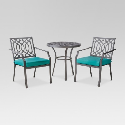Harper 3-Piece Metal Patio Bistro Set - Turquoise  - Threshold™