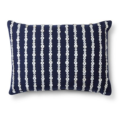 Threshold™ Embellished Button Decorative Pillow - Navy (Lumbar)