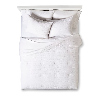 Textured Solid Comforter Set (Twin Extra Long) White 2pc - Room Essentials™