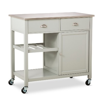 Stainless Steel Top Kitchen Island - Gray - Threshold™