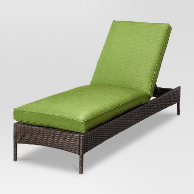 Belvedere Wicker Patio Chaise Lounge - Green - Threshold™