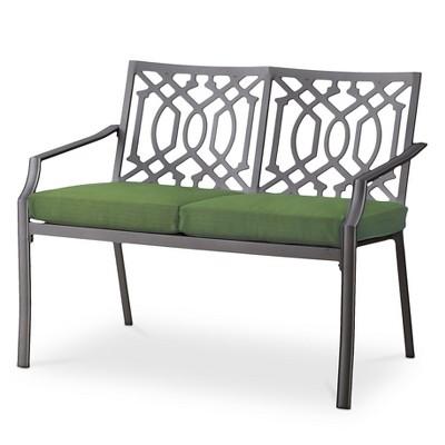 Harper Metal Patio Garden Bench - Green - Threshold™