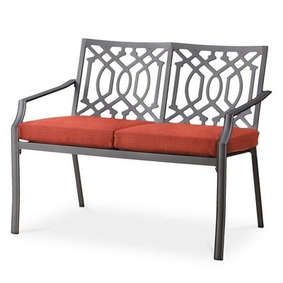 Harper Metal Patio Garden Bench - Orange - Threshold™