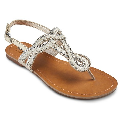 Model Womens Fiorene Flat Embellished Sandals