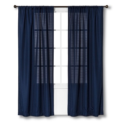 "Chesapeake Curtain Panel - Solid Blue (42""X84"") - Room Essentials™"