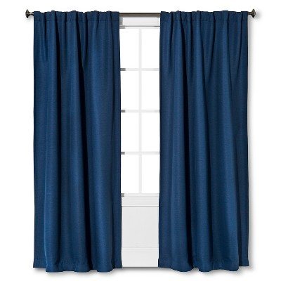 "Threshold™ Basket Thermal Weave Curtain Panel - Indie Blue (95"")"